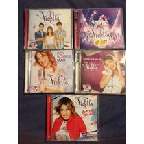 Violetta Combo De Cd Y Dvd Originales En Bolso De Colgar