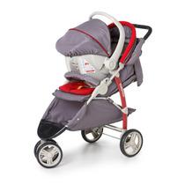 Carrinho De Bebê Cross + Bebe Conforto + Base Galzerano