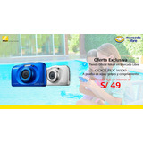 Cámara Nikon Coolpix W100 Azul Acuática