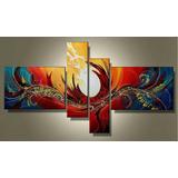 Cuadros Abstractos Decorativos Al Oleo Lienz Pintados A Mano