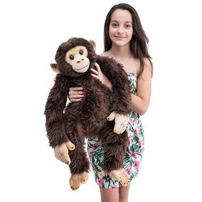 Chimpanzé De Pelúcia Real 80cm Frete Gratis