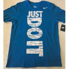 Camiseta Nike Just Do It Azul/branco