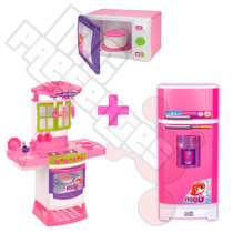 Kit Cozinha Super + Geladeira Super + Microondas Magic Toys