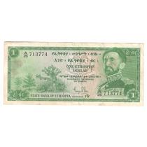 Billete Etiopia 1 Dolar (1961) Haile Selassie Envio Gratis