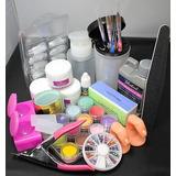 18 En 1 Polvo Acrílico Líquido Nail Art Consejos De Kits De