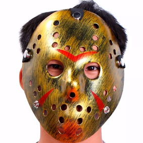 Mascara Disfraz Jason Voorhees Viernes 13 Dorado D1133