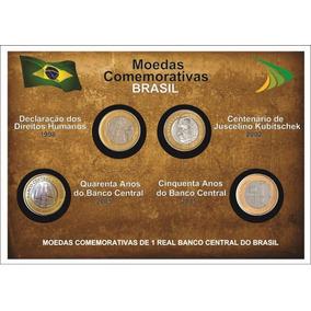 Coleçao Moedas Comemorativas - Dh/jk/40 Bc/50 Bc - C/cartela