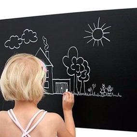 Adesivo Infantil Decorativo Parede Lousa Quadro Negro + Giz