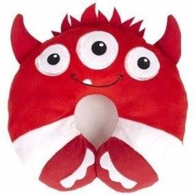 Almohada Para Cuello De Niños Monsters Rojo