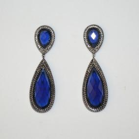 Brincos Com Pedra Azul Gota - Joias e Relógios no Mercado Livre Brasil 3cee746d69