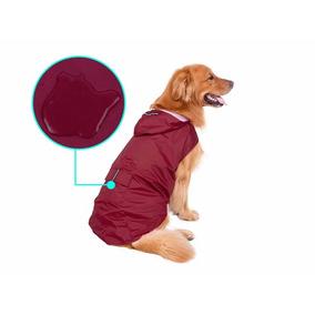 Capa Chuva Capuz Vermelha Impermeável Cães Tam 3 Xl
