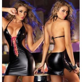 Micro Vestido Metalizado Mega Decote Entrelaçado Super Sexy