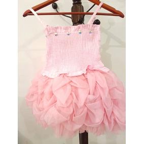Hermoso Vestido Tipo Princesa Talla 6 Color Rosa