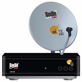 Antena 60cm Com Decoder Cromus Oi Tv Hd Livre Com Nf