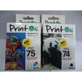 Cartuchos Printon 74 Negro Y 75 Color