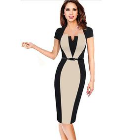 6aa474fa0 Vestidos Negros Elegantes - Vestidos de Mujer Amarillo en Mercado ...