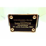 Cinto De Luxo Black And Gold Buckle Louis Vuitton Importado