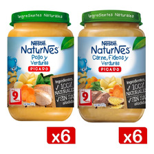 Picado Nestlé® Naturnes® Pollo Y Carne Frasco 215g X12