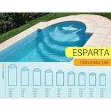 Piscina De Fibra De Vidrio Esparta 7,50x3,45x1,45 En Mendoza