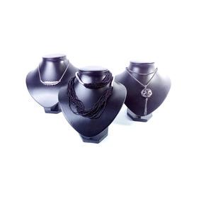 6 Unidades Exhibidor Para Collar Chico, Fabricado En Cuerina