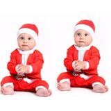 Fantasia Bebê Noel Macacão De Natal Para Nenê Body Natalino