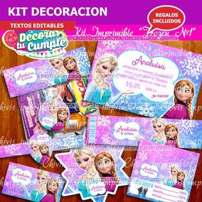 Kit Imprimible Frozen Anna Y Elsa Decoracion Candy Bar A12