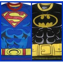 Ropa Franelas Para Niños Batman, Spiderman, Superman, Flash