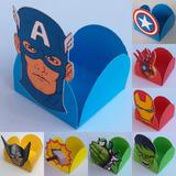25 Forminhas Vingadores Avengers Super Heróis Doces Docinhos