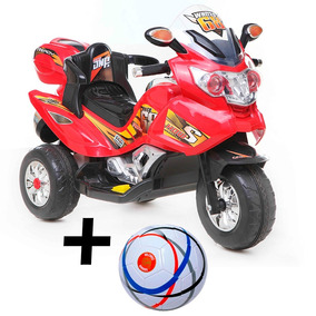 Moto A Bateria Niños 6v 113x45x75 C/ Luz Sonido + Pelota Reg