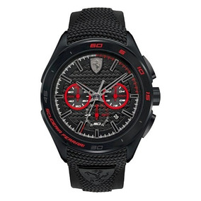 Relógio Scuderia Ferrari Masculino Borracha Preta
