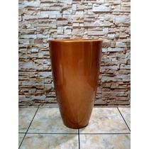 Vaso / Cachepot Em Fibra Estilo Cerâmica Vietinamita