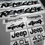 Calcomanias Jeep Renegade Cj5 - Cj7 Original Exacto Completo