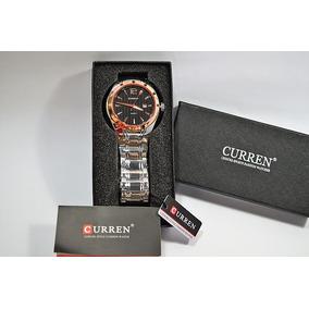 Relógio Masculino Curren Luxo Original Aço Inox + Caixa