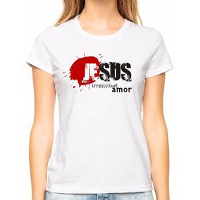 Babylook Blusa Feminina Jesus Irresistível Amor Gospel