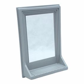 Espelho Com Prateleira Branco