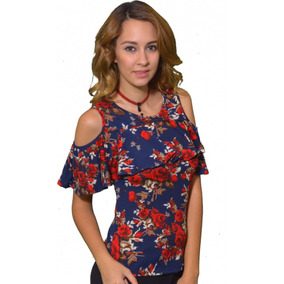 Blusa Hombros Descubiertos Floreada - Maat Clothing