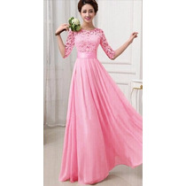 Bonitos Vestidos Moda Asiatica , De Fiesta,coctel Largo