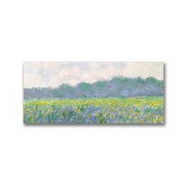 Field Of Yellow Irises At Giverny Canvas Art By Claude Mon