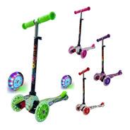 Monopatin Scooter Italy Original 3 Ruedas Infantil Luces Led
