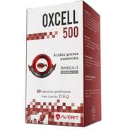 Suplemento Ômega 3 Avert Oxcell 500mg Cães Gatos 30 Cápsulas