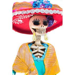 Esther Catrina Mexicana De Barro 100% Hecha A Mano¡¡¡