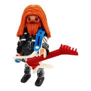 Rockero Guitarra Serie 18 Sobre Azul Playmobil 70369