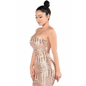 Vestido Lentejuela Estraple Super Sexy