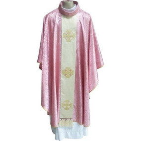 Capa De Asperges Roseo M - Paramentos Católicos Frete Gratis