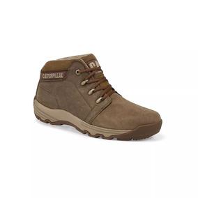 Zapatos Caterpillar Para Hombre Café De Piel Botas 2528168