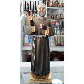 Imagem Padre Pio 30 Cm Santo - Escultura - Resina Di Angelo