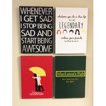 Combo 4 Cuadros How I Met Your Mother (c/u 20x28 Cm)