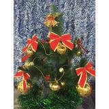Arvore De Natal 60cm Decorada Kit Vermelha Shiny Promoção!!!