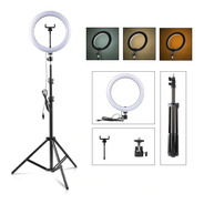 Ring Light Led Circular Iluminador Portátil 26cm Tripé 2m