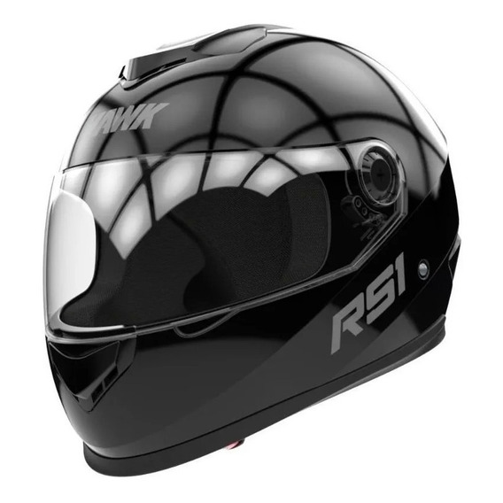 Casco Integral Hawk Rs1 Negro Mate Brillo 2019 En Fas Motos!